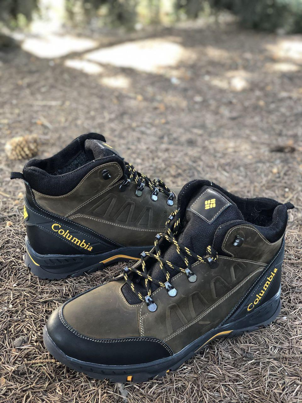 Мужские ботинки из натуральной кожи и шерстяного меха AV 790 ОЛ