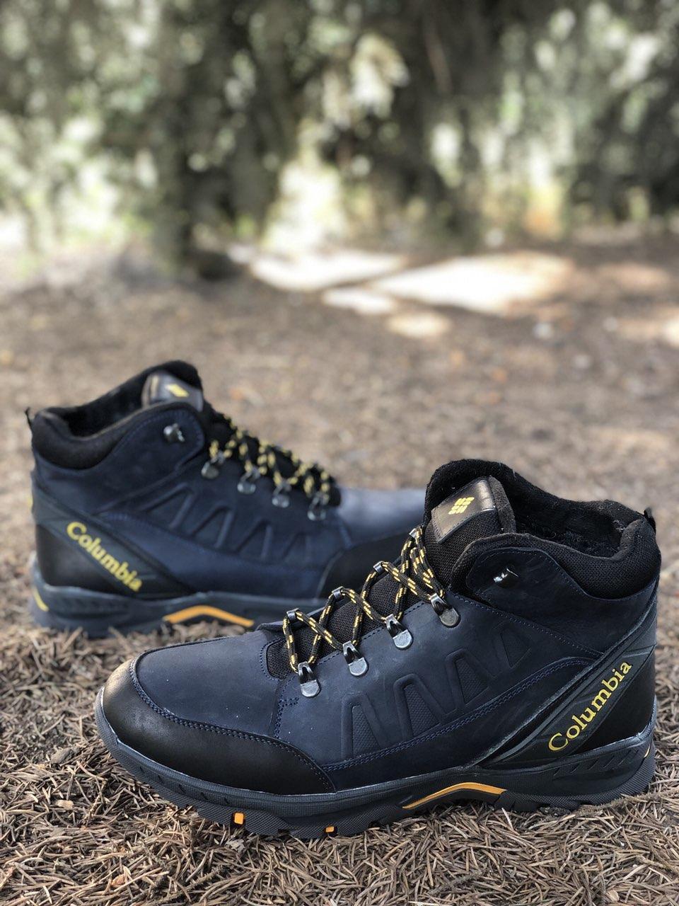 Мужские ботинки из натуральной кожи и шерстяного меха AV 790 bl