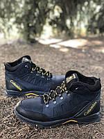 Мужские ботинки из натуральной кожи и шерстяного меха AV 790 bl 41