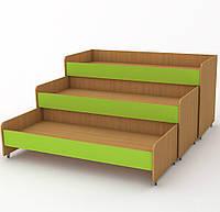 Кровать детская-трансформер 140х60 см. Трехъярусная