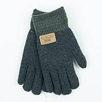Двойные шерстяные перчатки для мальчика 4-6 лет - 19-7-19 - Темно-серый
