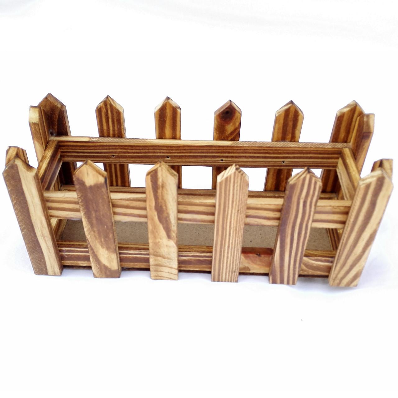 Кашпо коричневое «Забор»
