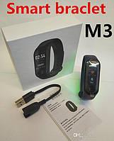 Фитнес-браслет bracelet M3, умные фитнес часы, фитнес трекер / черный, белая коробка