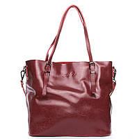 Женская сумка из натуральной кожи красного цвета классика