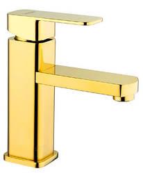 Змішувач для умивальника Zegor LEB1-A-G WKB123 (золото)