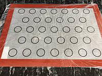 Силиконовый коврик для выпечки макарун на 33 ячейки (42*29,5)