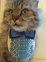 Галстук бабочка с манишкой вышиванкой для котика или собачки в ассортименте, фото 1