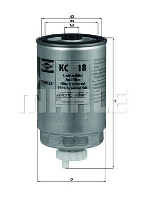 Фильтр топливный Mahle AUDI 80/90/100 1,6D/2,0D/2,4D/2,5TDI ,VW LT/GOLF II 1,6D Украина Харьков