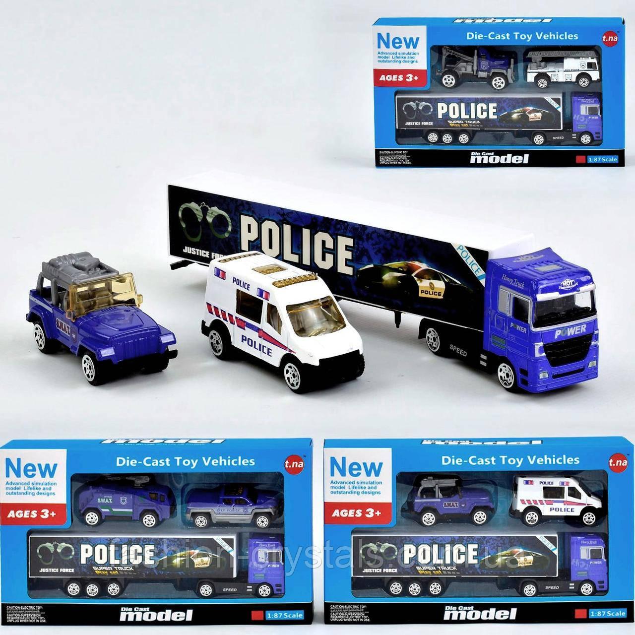 Игровой набор металл машинок Police 1046
