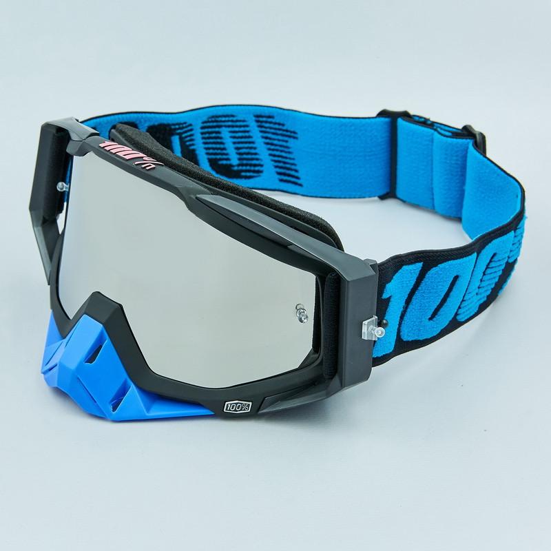 Очки кроссовые 100% Black Blue