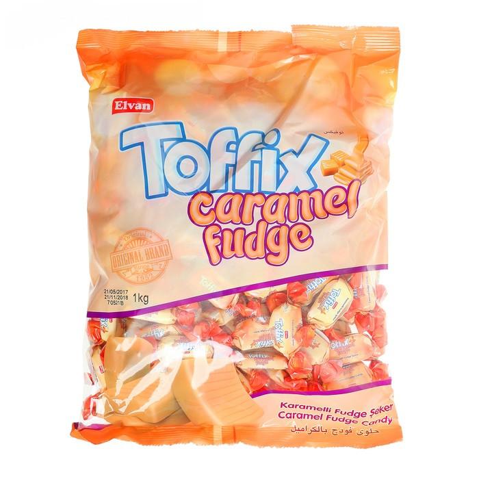 """Конфеты жевательные """"TOFFIX"""" Caramel Fudge 1 кг ТМ Lord"""