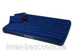 Надувные матрасы  Intex 68765 +насос!!! +подушки!!! (203х152х23 см)