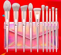 Набор из 10 кистей для макияжа Кисточка для макияжа для начинающих Кисть для макияжа Набор для макияжа