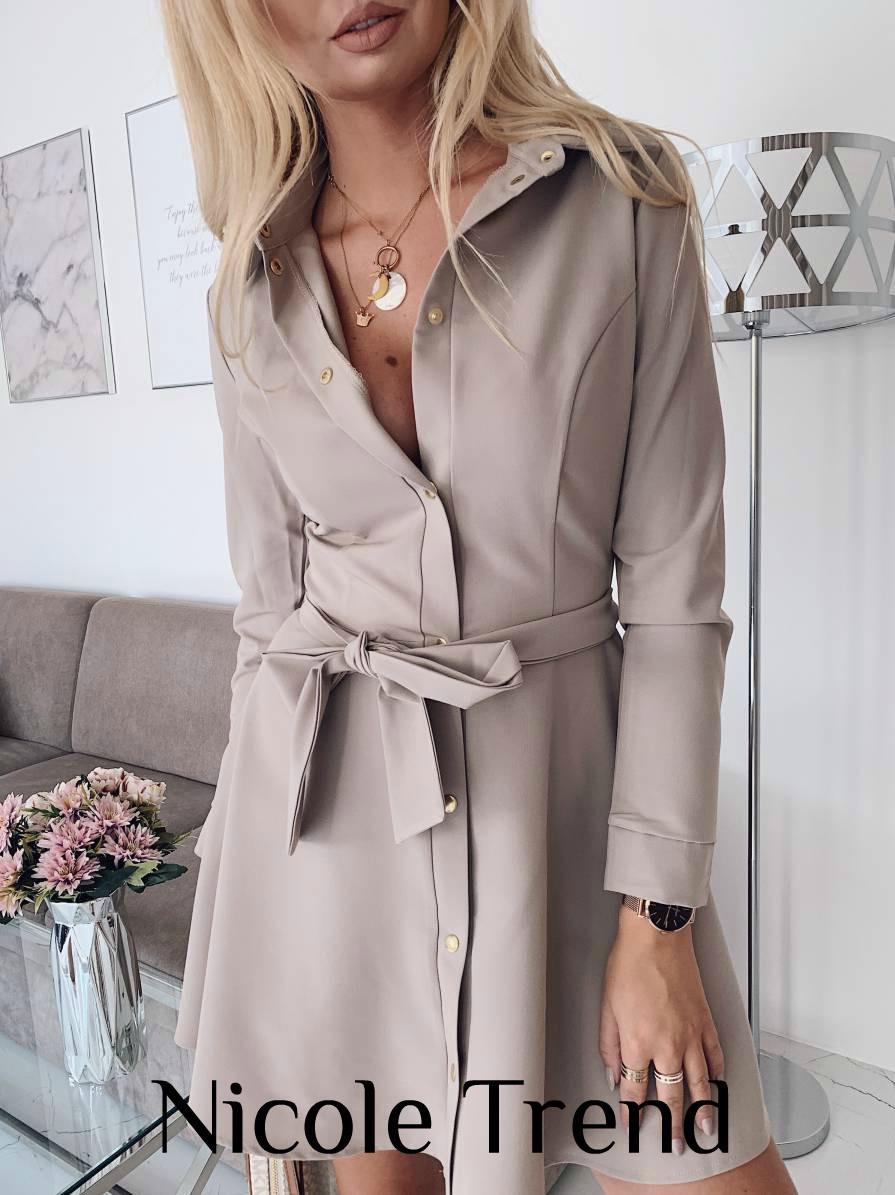 Платье женское рубашка осеннее размер 42 44 46 Новинка 2019  есть много цветов