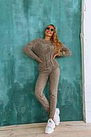 Женсикй вязаный костюм кофейного цвета, фото 1