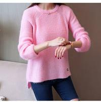 Женский свитер Фабричный Китай - серый, розовый, голубой