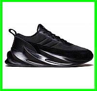 Кроссовки Adida$ Shark$ Мужские Адидас Чёрные Акула
