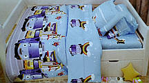 Качественный детский комплект постельного белья 1,5-местный Робокар Поли (150 х 215)