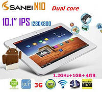 """10,1"""""""" Sanei N10+GPS+2G/3G 4Ядра +IPS"""