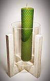 Кольорова вощина зелена. Ціна за лист 20х26 см, фото 4