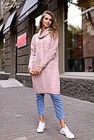 Женское вязанное платье-туника