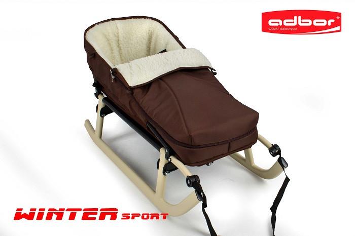 109 Спинка додаткова до санкам WINTER SPORT з м'яким сидінням (коричневий)