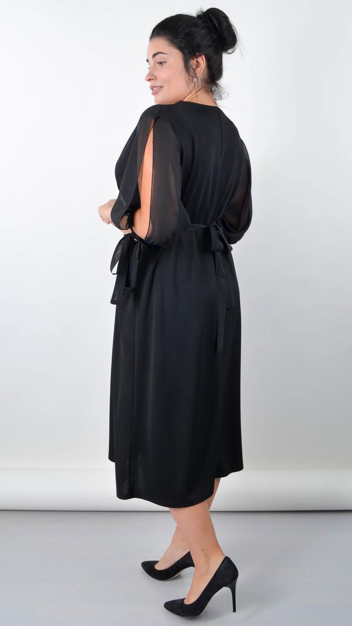 Алла. Изысканная платье plus size. Черный