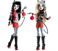 Набор их 2х кукол Монстер Хай Мелодия и Пурсефона базовые Monster High Meowlody &Purrsephone