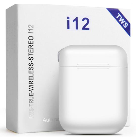 Беспроводные наушники Bluetooth AirPods i12 TWS V5.0