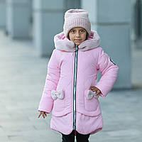 """Зимняя куртка для девочки """"Бонни"""" с шарфом-хомутом., фото 1"""