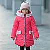 """Зимняя куртка для девочки """"Бонни"""" + вязаный хомут."""