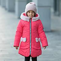 "Зимняя куртка для девочки ""Бонни"" + вязаный хомут., фото 1"