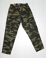 Детские брюки котоновые р. 116-164  (004152)