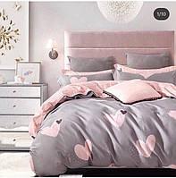 Полуторный постельный комплект - Розовое сердце