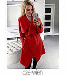 Пальто женское полупальто на запах модное, фото 3