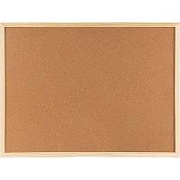 Доска пробковая 90х120 см, деревянная рамка Axent