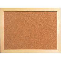 Доска пробковая 45х60 см, деревянная рамка Axent