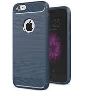 Чехол Carbon для Iphone 6 Plus / 6s Plus Бампер оригинальный Blue, фото 1