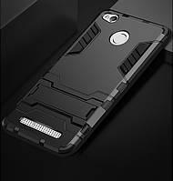 Чехол Iron для Xiaomi Redmi 3S / Redmi 3 Pro бронированный бампер Броня Black