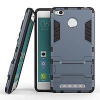 Чехол Iron для Xiaomi Redmi 3S / Redmi 3 Pro бронированный бампер Броня Dark Blue, фото 1
