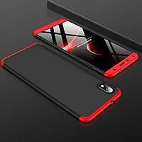 Чехол GKK 360 для Xiaomi Redmi 7A бампер противоударный Black-Red, фото 1