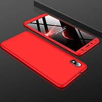 Чехол GKK 360 для Xiaomi Redmi 7A бампер противоударный Red, фото 1