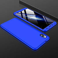 Чехол GKK 360 для Xiaomi Redmi 7A бампер противоударный Blue, фото 1