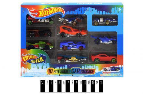 """Набор металлических моделей """"Hot Wheel"""", меняют цвет (набор 10 штук) GBS889-10"""