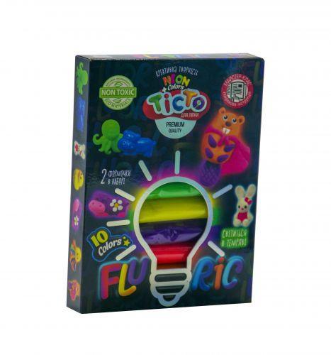 """Набор для лепки """"Fluoric"""", 10 цветов (укр) TMD-FL10-03U"""