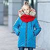 """Зимова куртка для дівчинки """"Еммі"""" з шарфом"""