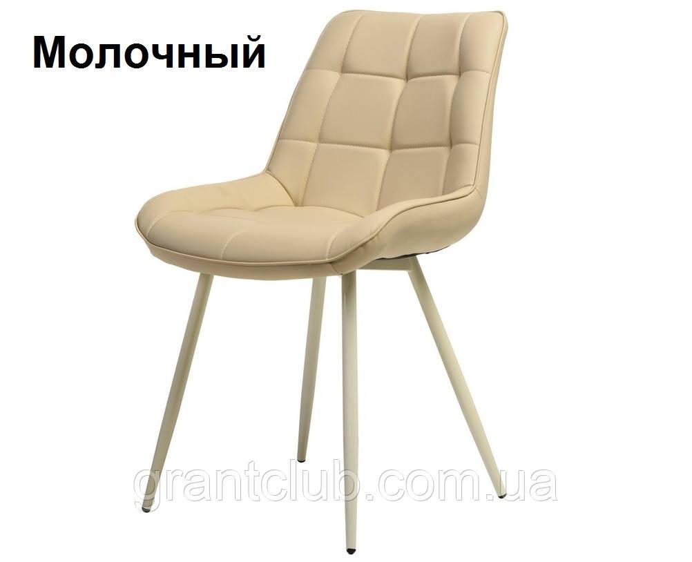 Мягкий стул N-45 молочный искусственная кожа Vetro Mebel (бесплатная доставка)
