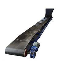 Конвейер Транспортер ленточный 6 метров с приемным бункером для полусухих растворов, фото 1
