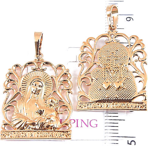 Иконка Xuping Божья матерь с младенцем 3.4см л336