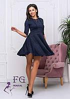 Трикотажное платье со шнуровкой на груди, фото 1
